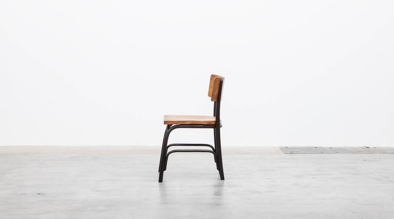 1930's black bentwood, oak Set of six Side Chairs by Fritz Hansen In Excellent Condition For Sale In Frankfurt, Hessen, DE
