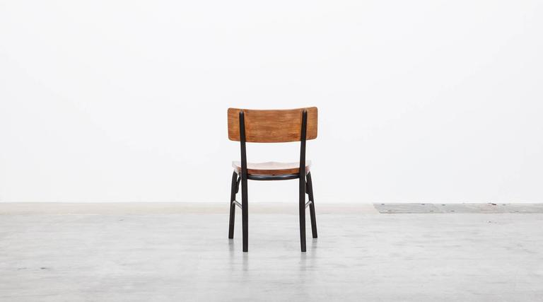 Mid-20th Century 1930's black bentwood, oak Set of six Side Chairs by Fritz Hansen For Sale