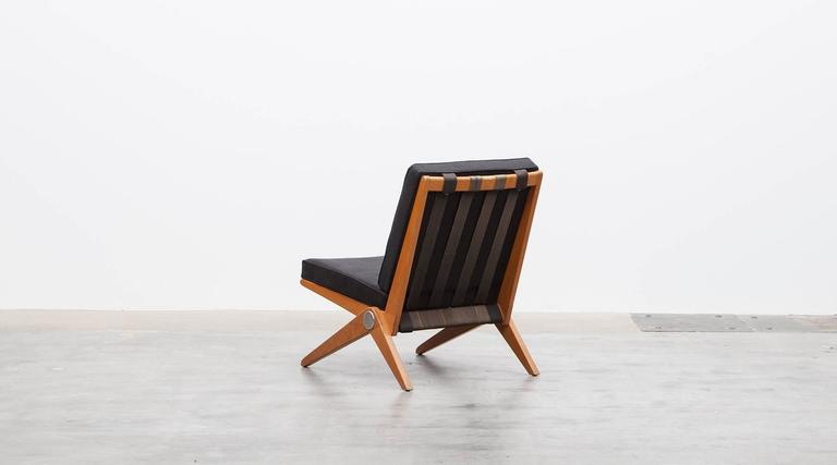 Pair of Pierre Jeanneret Easy Chair 'b'  * New Upholstery *  6