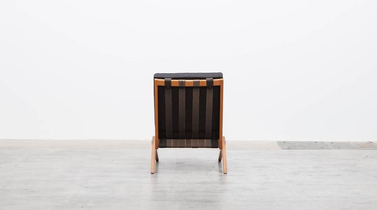 Pair of Pierre Jeanneret Easy Chair 'b'  * New Upholstery *  7