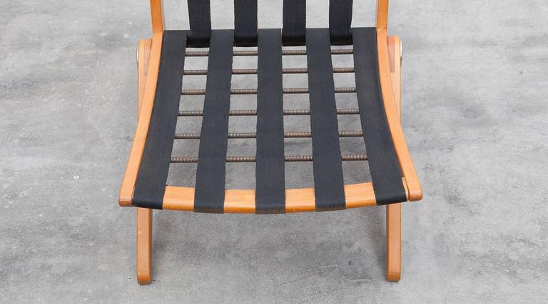 Pair of Pierre Jeanneret Easy Chair 'b'  * New Upholstery *  For Sale 3
