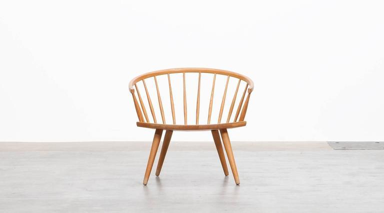 Oak Yngve Ekström Lounge Chair 'b'