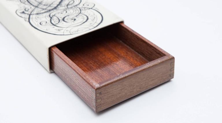 Italian Old Piero Fornasetti Box 'm' For Sale