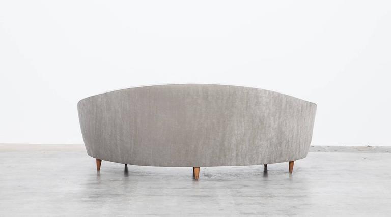 Mid-Century Italian Sofa * NEW UPHOLSTERY * 7