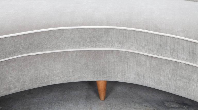Mid-Century Italian Sofa * NEW UPHOLSTERY * 8