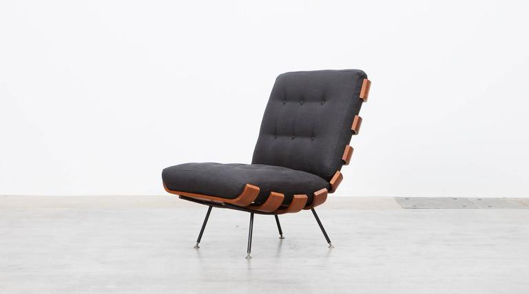 Mid-Century Modern Pair of Martin Eisler and Carlo Hauner Matching Lounge Chairs For Sale