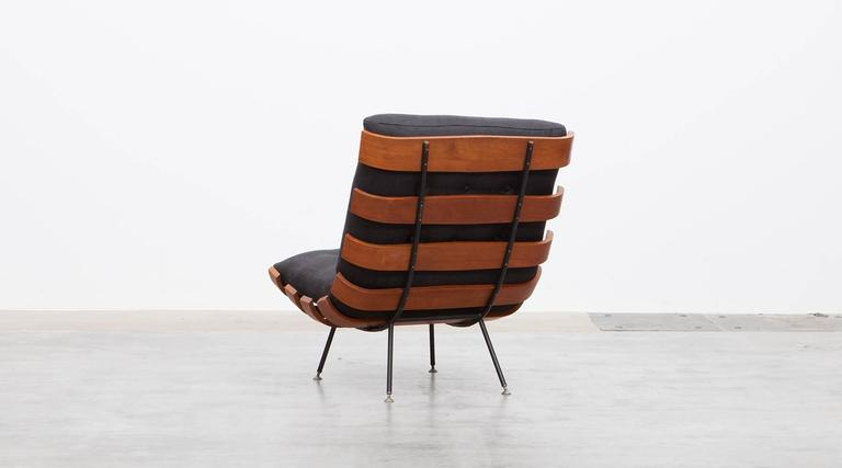 Mid-20th Century Pair of Martin Eisler and Carlo Hauner Matching Lounge Chairs For Sale