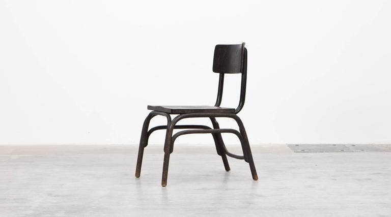 Ferdinand Kramer 1920 s black beech bentwood easy chairs by ferdinand kramer 8 for