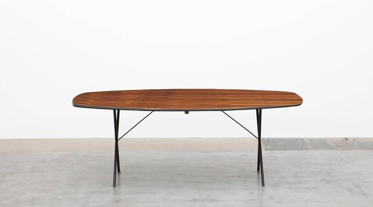 Mid Century Modern 1950 S Brown Wooden Dining Table By George Nelson For