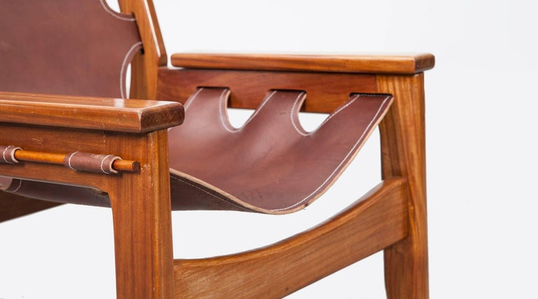 Leather Sergio Rodrigues Lounge Chairs For Sale
