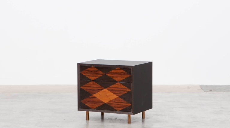 Contemporary Brown Wood Pair of Nightstands by Johannes Hock 6