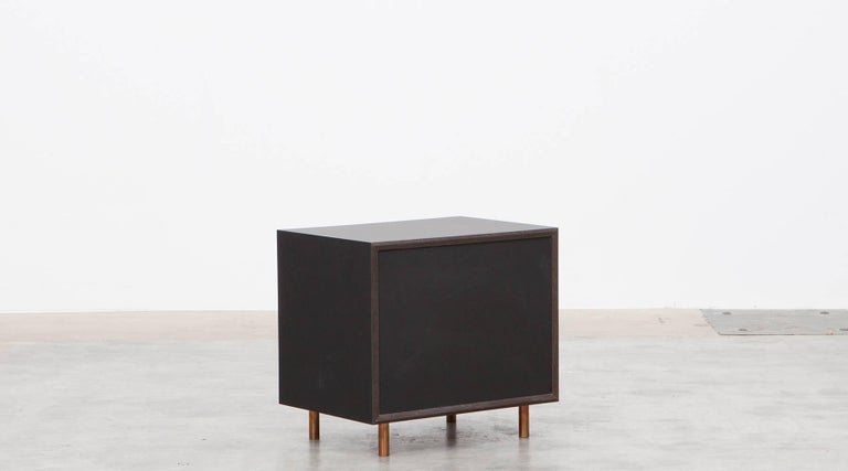 Contemporary Brown Wood Pair of Nightstands by Johannes Hock 8
