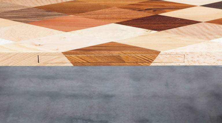 Contemporary Brown Wooden Desk by Johannes Hock 'd' 5