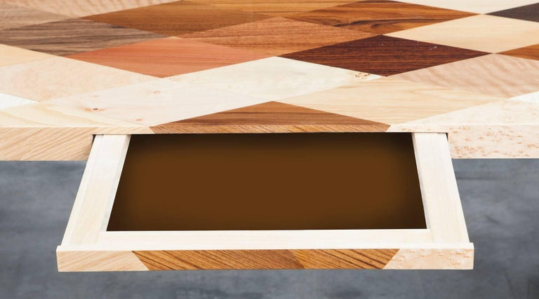Contemporary Brown Wooden Desk by Johannes Hock 'd' 6