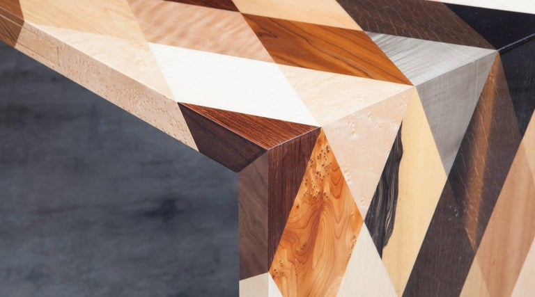Contemporary Brown Wooden Desk by Johannes Hock 'd' 4