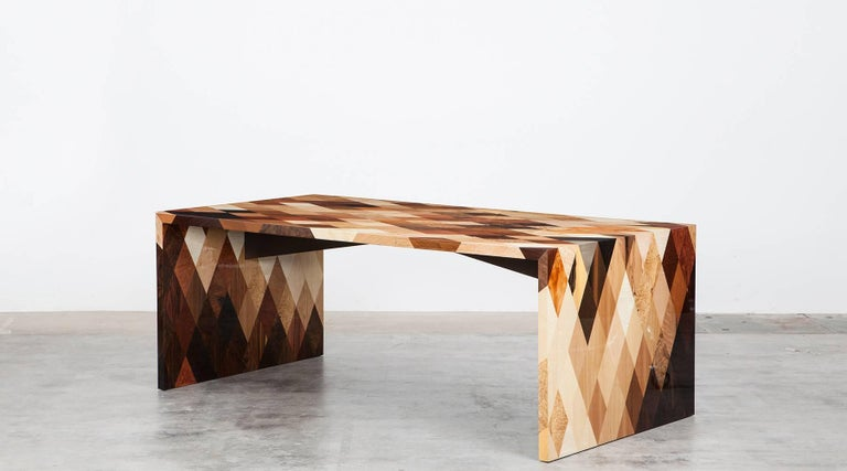 Contemporary Brown Wooden Desk by Johannes Hock 'd' 2