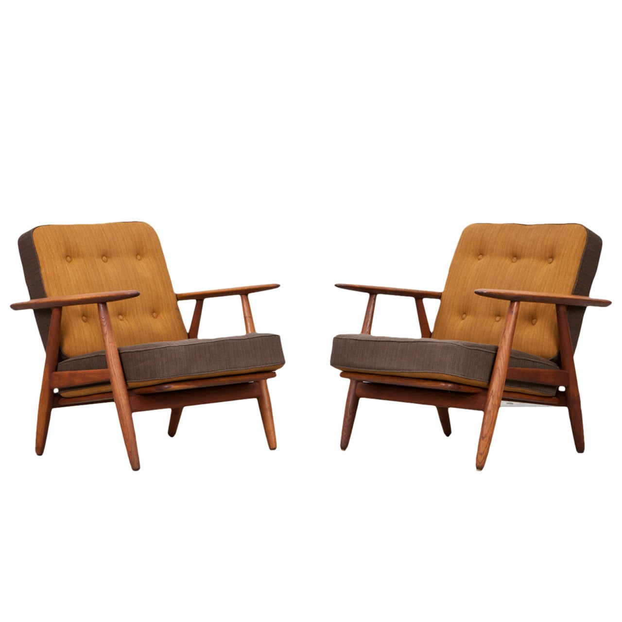 Rare Couple of Hans Wegner Lounge Chairs For Sale  sc 1 st  1stDibs & Rare Couple of Hans Wegner Lounge Chairs at 1stdibs
