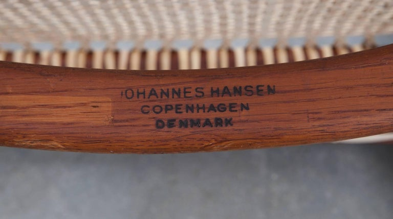 Six 1949 Brown Teak Set of Hans Wegner
