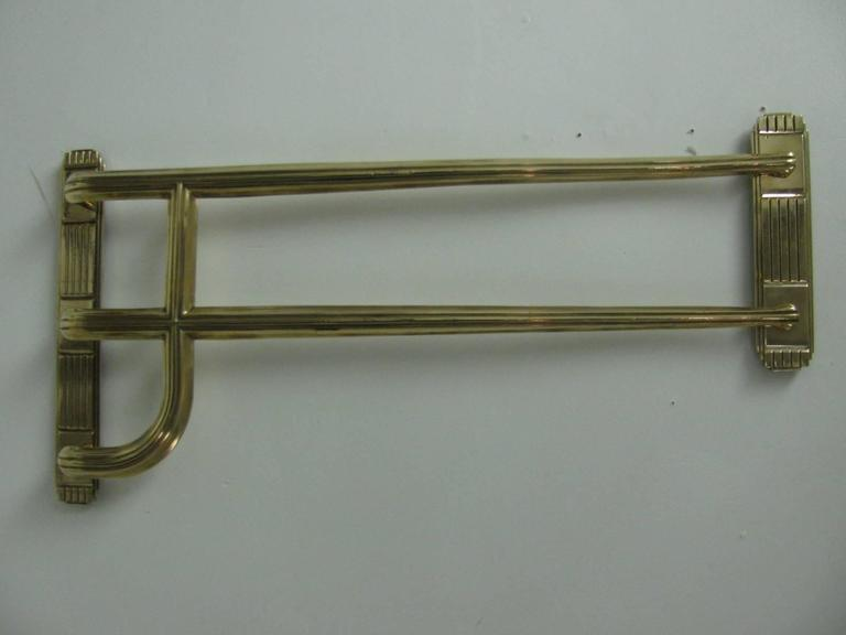 Art Deco Solid Brass Theatre Door Handles, Two Pair Available For ...