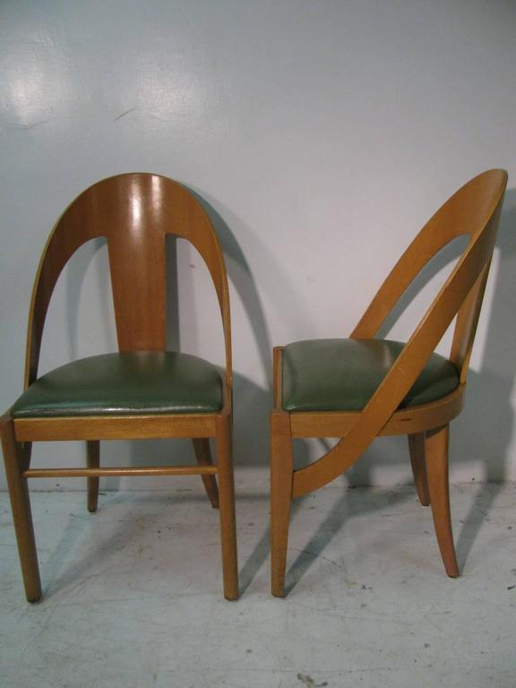 Set Of Four Mid Century Bent Maple Spoonback Cafe Dining Chairs For Sale At 1
