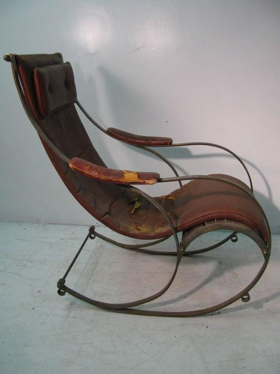 Marvelous 19Th Century Campaign Rocking Chair R W Winfield Squirreltailoven Fun Painted Chair Ideas Images Squirreltailovenorg