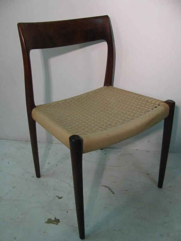 Set of Six Danish Mid-Century Modern Rosewood Dining Chairs by J L Moller 4