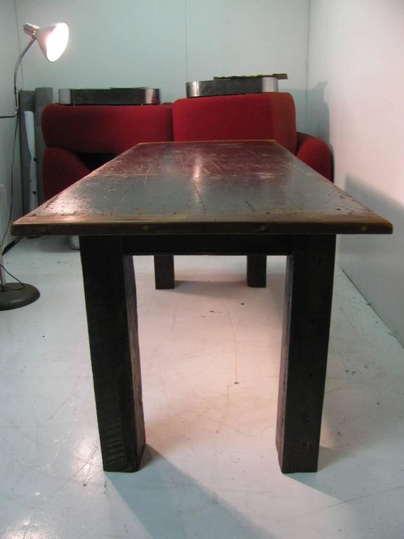 American Country Pine Harvest Farm Table Seven Foot Hand Made For Sale