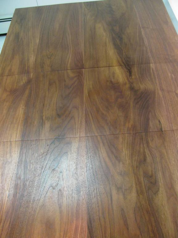 Mid-Century Modern Black Walnut and Iron Dining Table by Clifford Pascoe In Excellent Condition For Sale In Port Jervis, NY