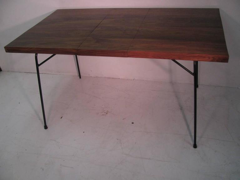 Mid-20th Century Mid-Century Modern Black Walnut and Iron Dining Table by Clifford Pascoe For Sale