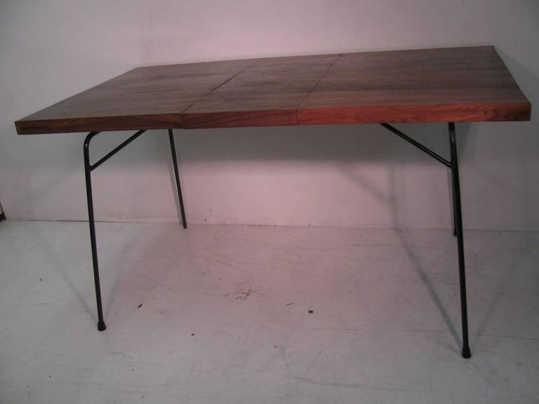 Mid-Century Modern Black Walnut and Iron Dining Table by Clifford Pascoe For Sale 1