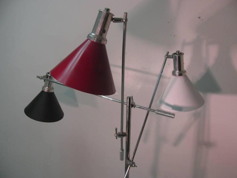 American Mid-Century Modern Triennale Floor Lamp For Sale