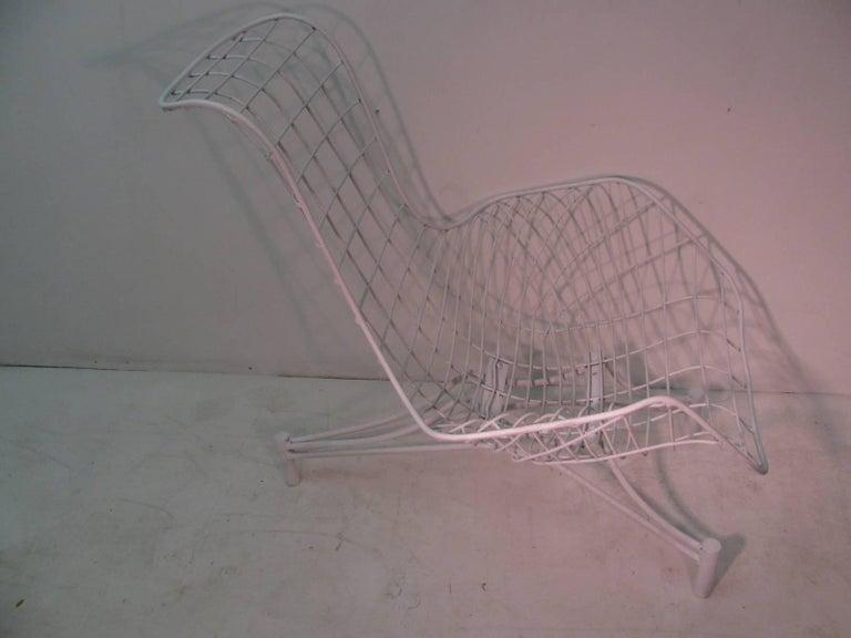 Iron Vladimir Kagan Mid-Century Modern Lounge Chair Recliner with Original Pads For Sale