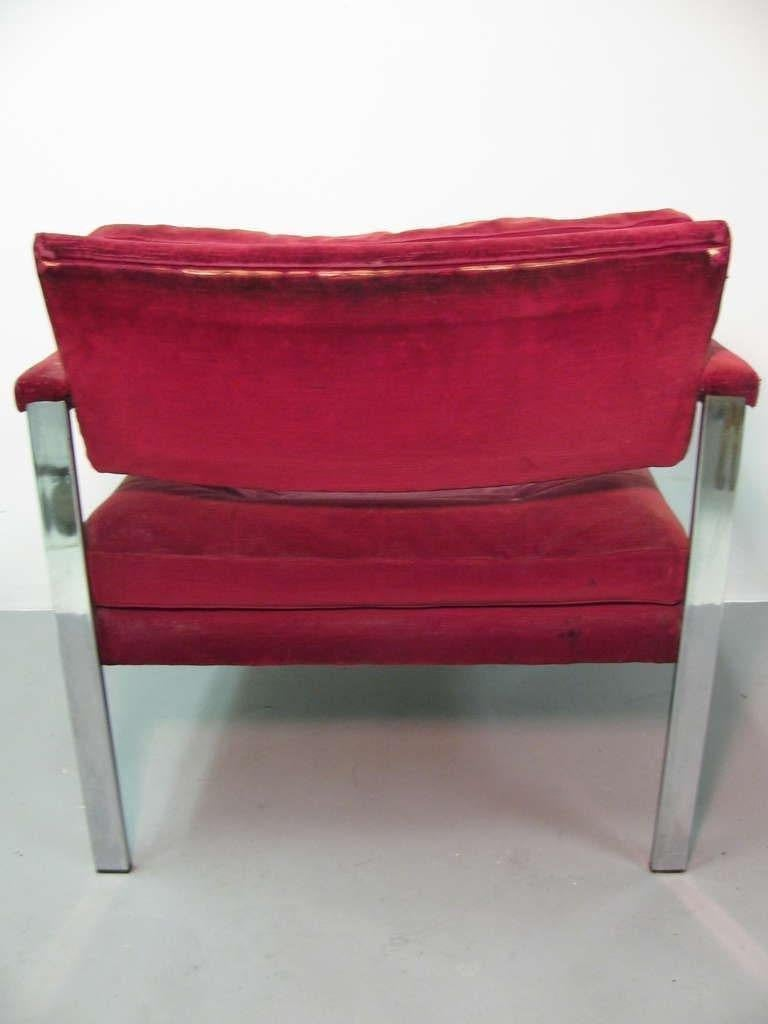 Pair of Midcentury Lounge Chairs by Harvey Probber For Sale 1