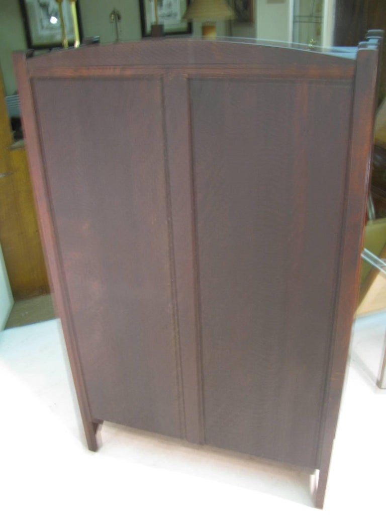 Oak L & JG Stickley Mission Arts & Crafts, China Closet For Sale