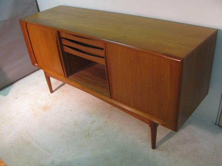 Late 20th Century Midcentury Danish Modern Teak Credenza by Bernhard Pedersen & Son For Sale