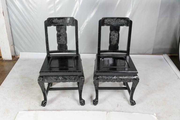 Mid 20th century chinese hall chairs pair for sale at 1stdibs for Mid 20th century furniture