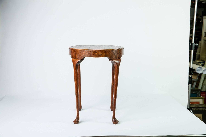 Baker Furniture Burled Wood Drinks Table For Sale At 1stdibs