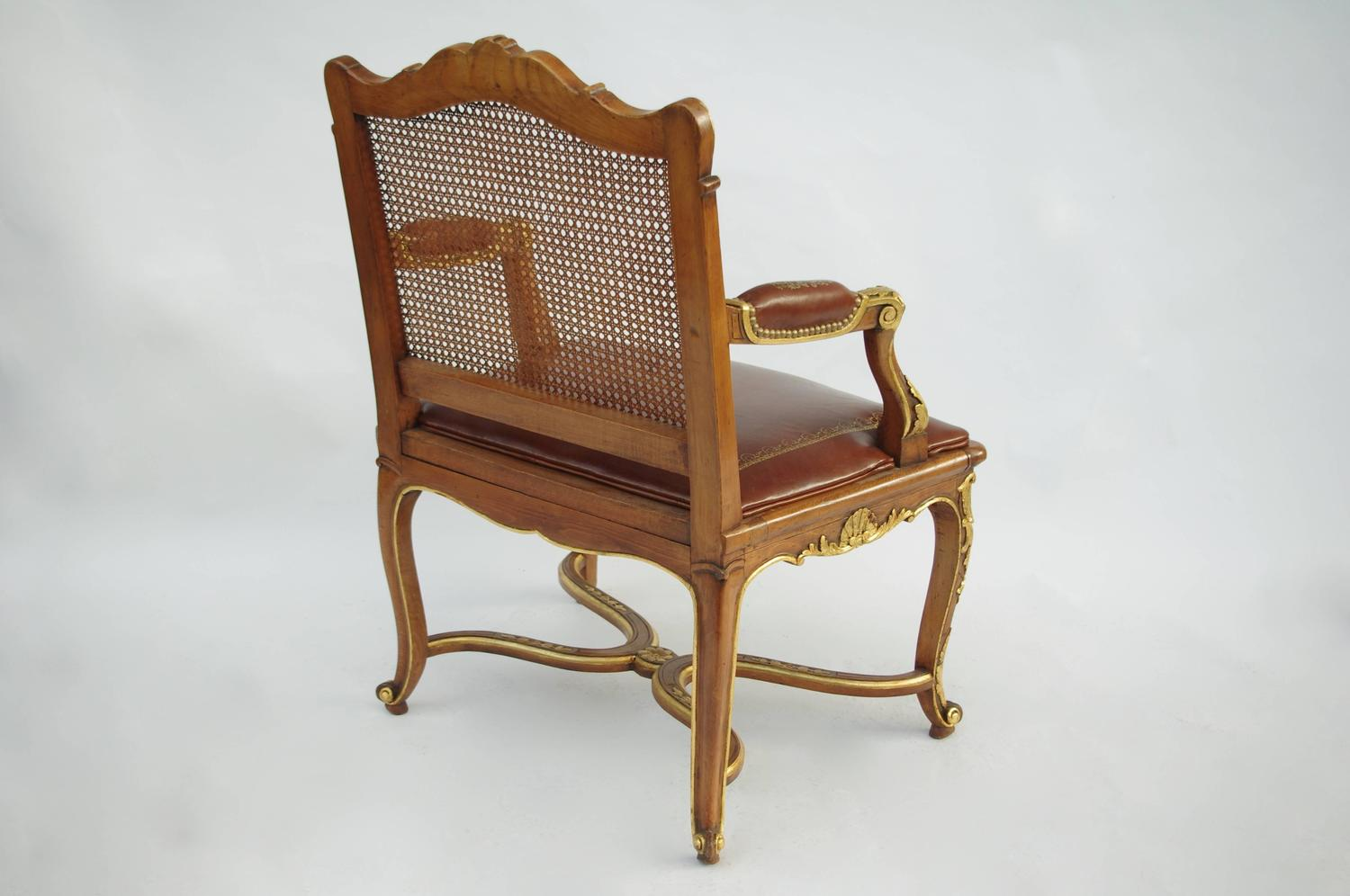 Regency Style Beech Wood Armchair Circa 1880 For Sale At