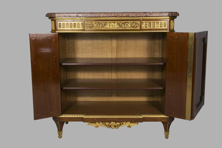 Louis XVI Henry Dasson Meuble d'appui, 1879 For Sale