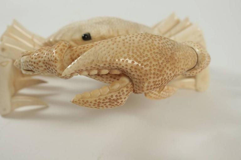 Mid-20th Century Crab Sculpture in Bone For Sale