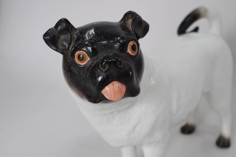 Ceramic French bulldog Signed Work, circa 1950.