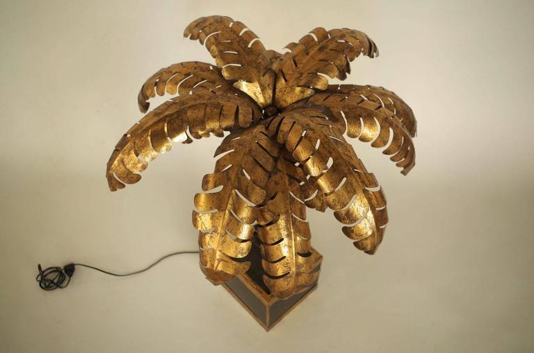 """Palm Tree"" Lamp in Gilt Brass in the Style of Jansen, circa 1950 5"