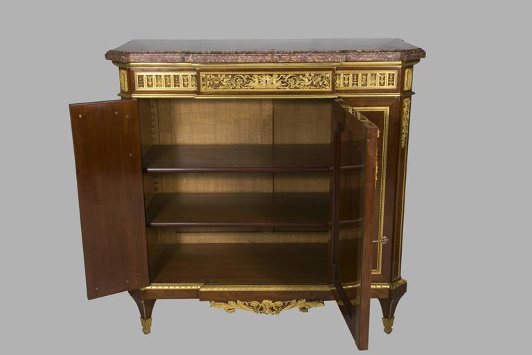 19th Century Henry Dasson Meuble d'appui, 1879 For Sale