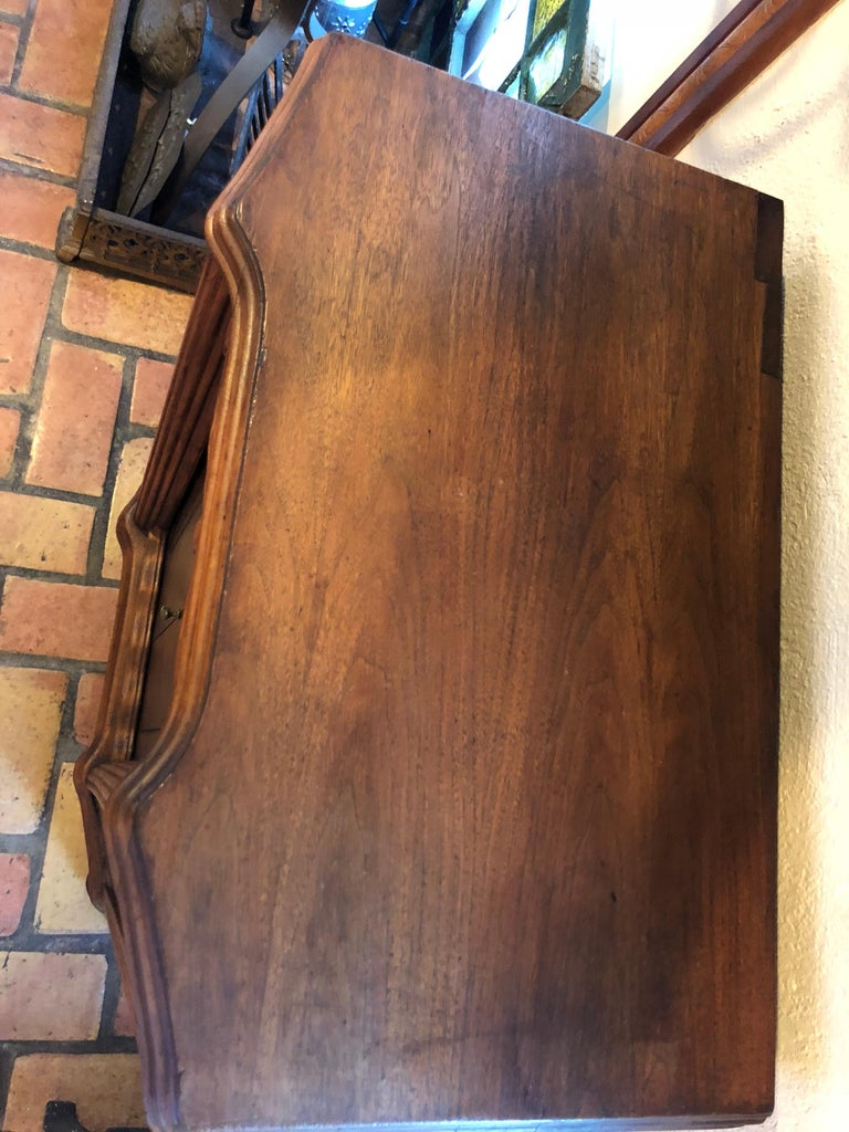 Carved Antique Wooden Cabinet or Bookcase For Sale 6
