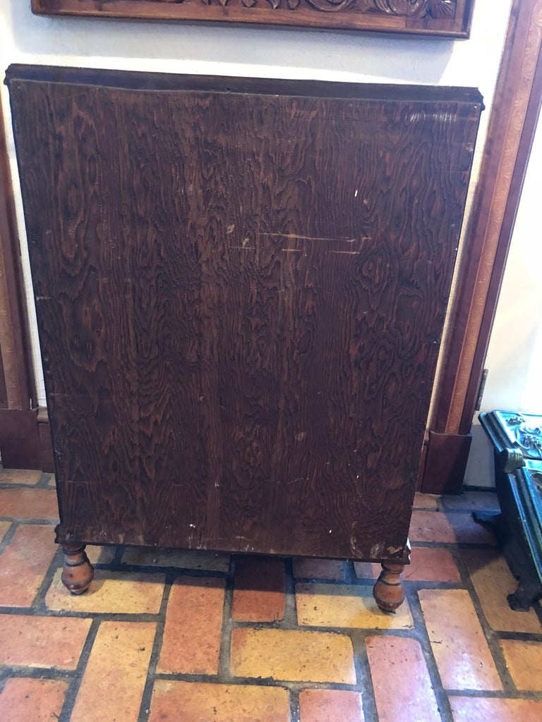 Carved Antique Wooden Cabinet or Bookcase For Sale 13