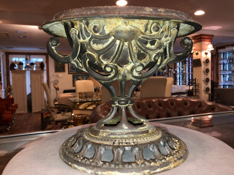 1865 Victorian Religious Holy Water Font or Cachepot For Sale 1