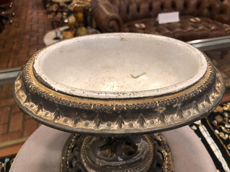 1865 Victorian Religious Holy Water Font or Cachepot For Sale 4