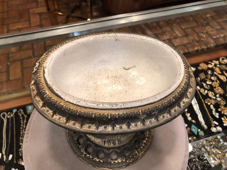 1865 Victorian Religious Holy Water Font or Cachepot For Sale 5