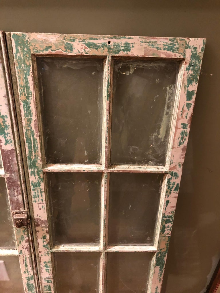 Painted Pair of Antique Windows For Sale