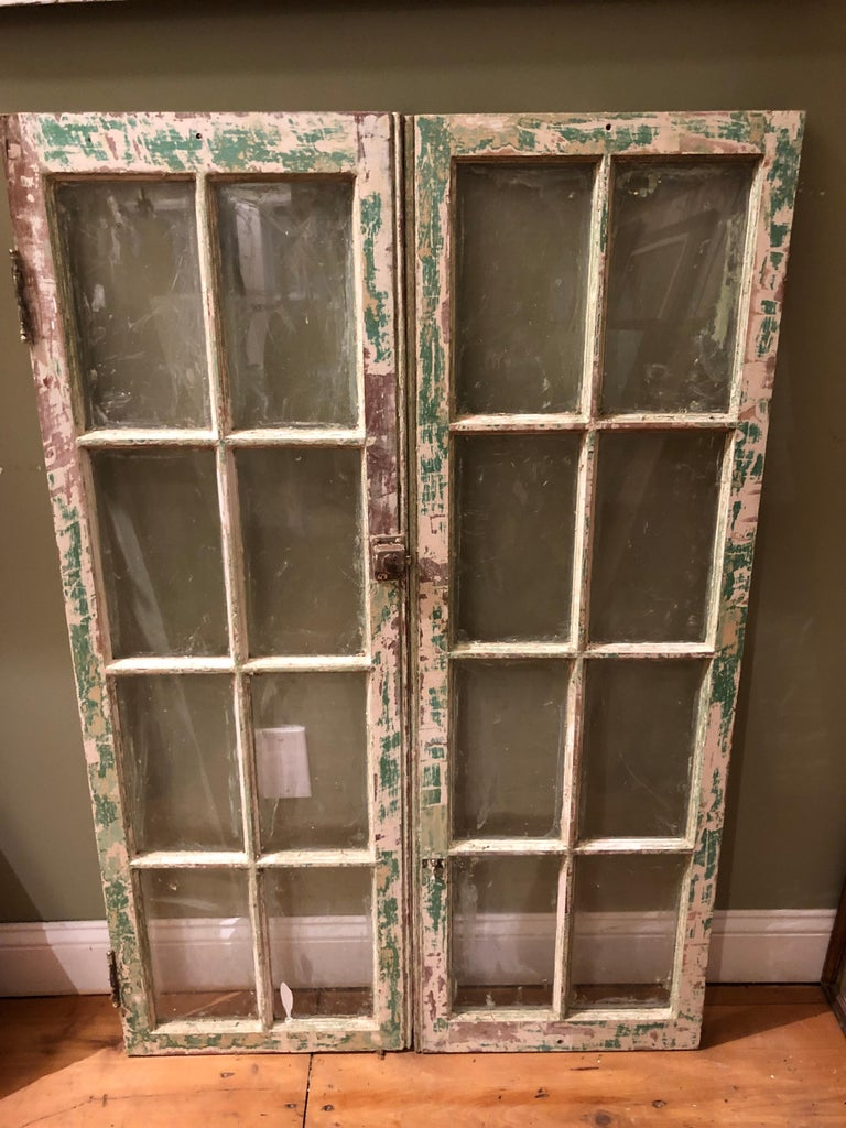 Country Pair of Antique Windows For Sale